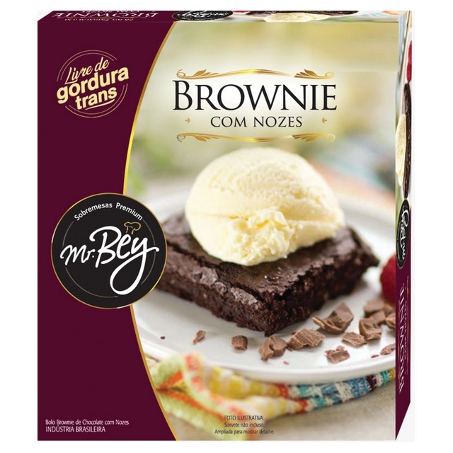 BROWNIE C/ NOZES MR BEY 80G