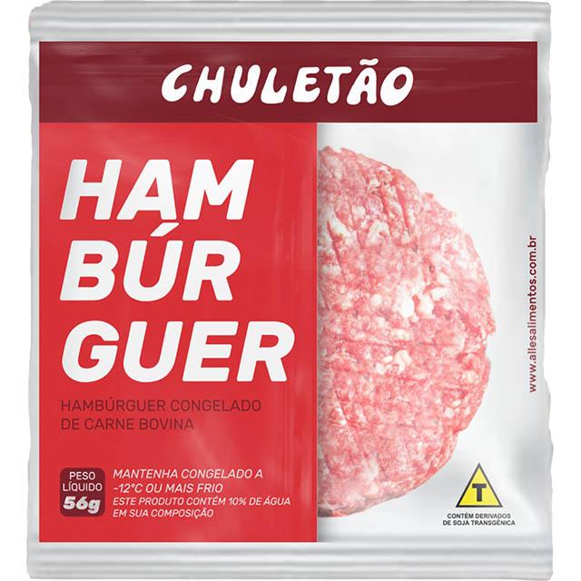 HAMBURGUER MISTO CHULETAO ALLEZA 36X56GR