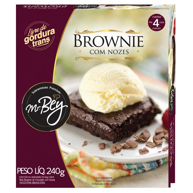 BROWNIE C/ NOZES MR BEY 240G