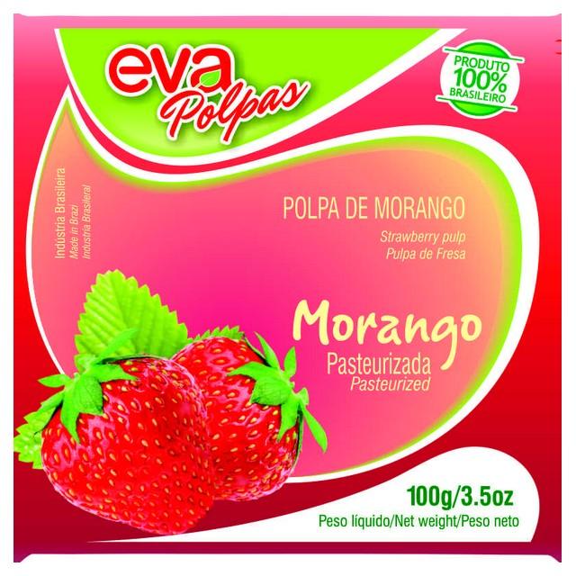 POLPA MORANGO EVA 100G