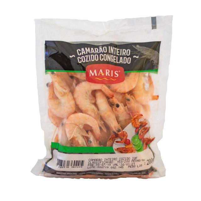 CAMARAO INTEIRO COZIDO (150/200) MARIS 200G