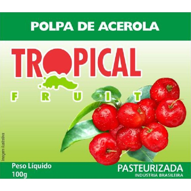 POLPA ACEROLA TROPICAL 100G