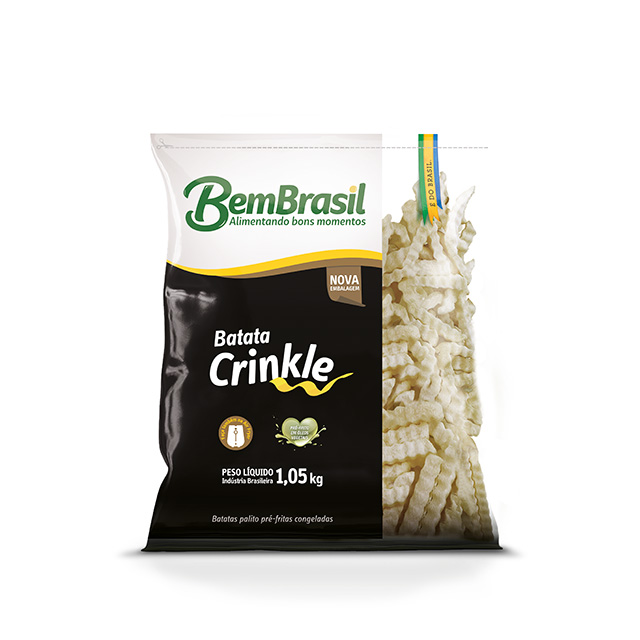 BATATA CRINKLE BEM BRASIL 1,05KG
