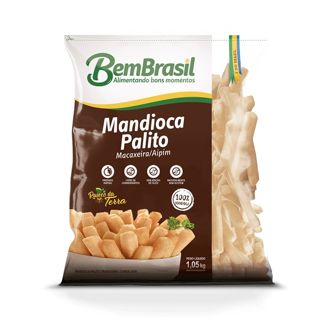 MANDIOCA PALITO TRADICIONAL BEM BRASIL 1,05KG