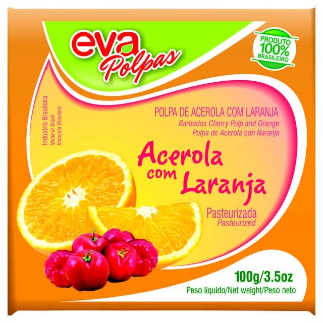 POLPA ACEROLA/LARANJA EVA 100G
